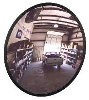 Circular Convex Mirrors Available Through Brossard Mirrors